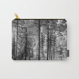 Infrared view of a forest of trees in Montana Carry-All Pouch