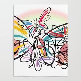 Schmetterlinge - butterflies Poster