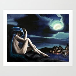 Siren in the Hill Art Print