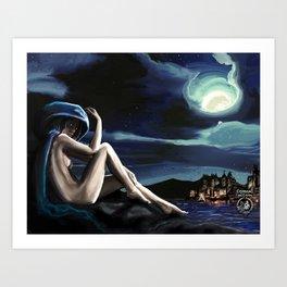 Siren in the Hill Art Print