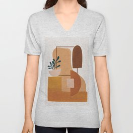 Modern Abstract Art 52 Unisex V-Neck