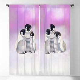 Three Siblings - Penguins  Blackout Curtain