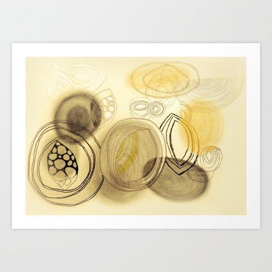 Soft circles Art Print