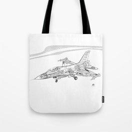 F16 Cutaway Freehand Sketch Tote Bag
