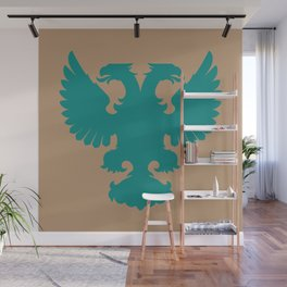 double-headed eagle on brown background Wall Mural