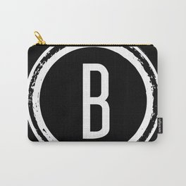 Letter B Monogram Carry-All Pouch