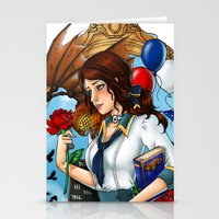 bioshock infinite Stationery Cards featuring BioShock Infinite by Little Lost Forest
