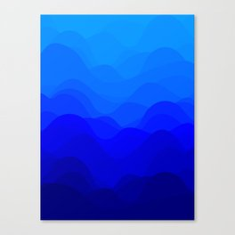 Blue Waves Canvas Print