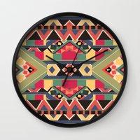 luke hemmings Wall Clocks featuring B / O / L / D by Bianca Green