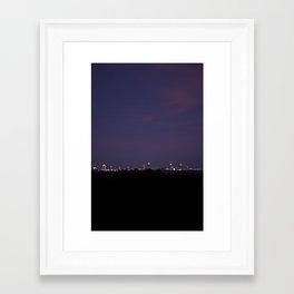 Atlanta Skyline Framed Art Print