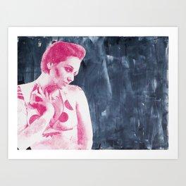 Bubblicious Babe Art Print