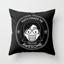 Frickin Awesome - Math Girl Throw Pillow
