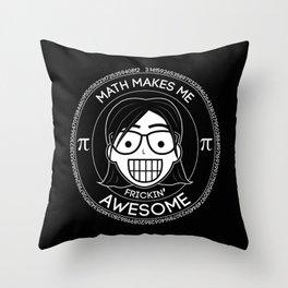 Frickin Awesome - Math Girl Throw Pillow