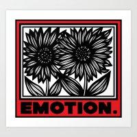 Burghart Flowers Red White Black Art Print