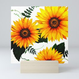 Sunflower painting 1 Mini Art Print