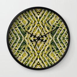 Ochre African Dye Resist Fabric Wall Clock