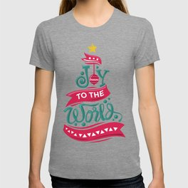 Joy To The World Christmas Tree Quote Holiday T-shirt