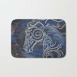 Horse and Stardust Bath Mat