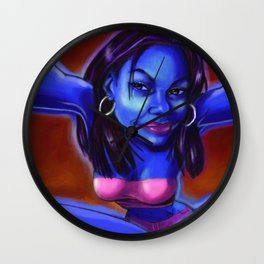 She's Blue Wall Clock