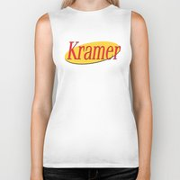 seinfeld Biker Tanks featuring Kramer  - Seinfeld by Uhm.