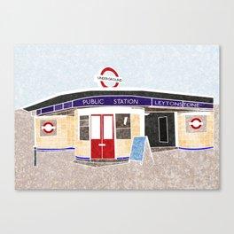 Leytonstone tube Canvas Print