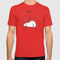 Anatomy of a Rabbit LARGE Mens Fitted Tee Red