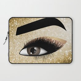 Gold Lashes Eye Laptop Sleeve