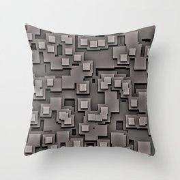 Illusion Gray City Throw Pillow