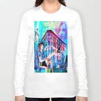 women Long Sleeve T-shirts featuring Women by Ganech joe