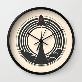 Space Rocket Wall Clock