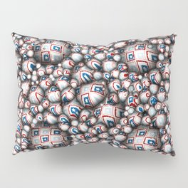 Abstract 3D Stars Pillow Sham