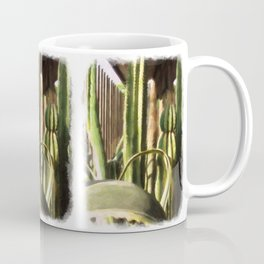Cactus Garden Vivid Oil Coffee Mug