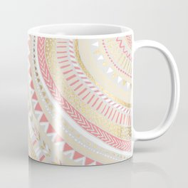 Coral + Gold Tribal Coffee Mug