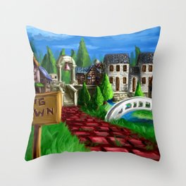 RPG Town Throw Pillow