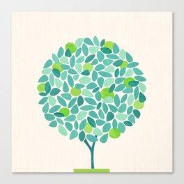 Mid Century Lime Tree Canvas Print