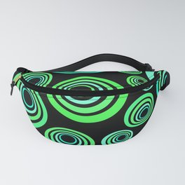 Neon blue and green Fanny Pack