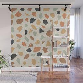 Terrazzo flooring vector seamless pattern. Texture of classic italian type of floor in Venetian styl Wall Mural