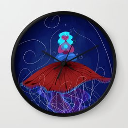 The Jellyfish Whisperer Wall Clock