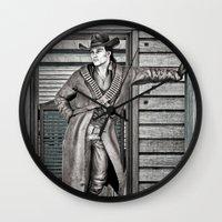 cowboy Wall Clocks featuring Cowboy by Design Windmill