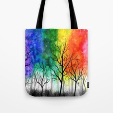 Rainbow Trees Tote Bag