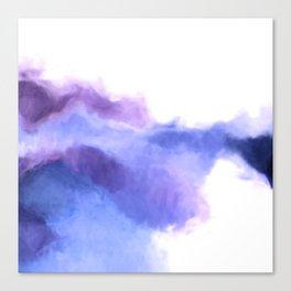 Purple Sky, White Light - abstract Canvas Print
