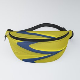 RISEN navy blue stripe on solid yellow modern design Fanny Pack