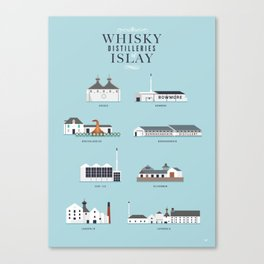 Whisky Distilleries of Islay Canvas Print
