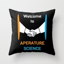 WELCOME TO APERATURE SCIENCE  Throw Pillow