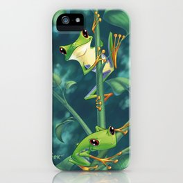 I love Being Green! iPhone Case