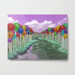 Lollipop Lane Metal Print