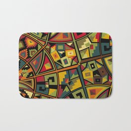 African Traditional Fabric Patterns Bath Mat
