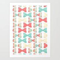 bows Art Prints featuring bows by melazerg