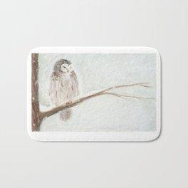 Owl Snow Bath Mat