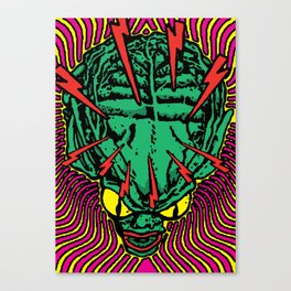 Lysergic Saucer-Man Canvas Print